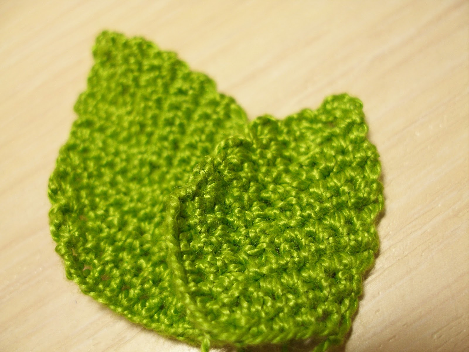 Вязание крючком листья березы