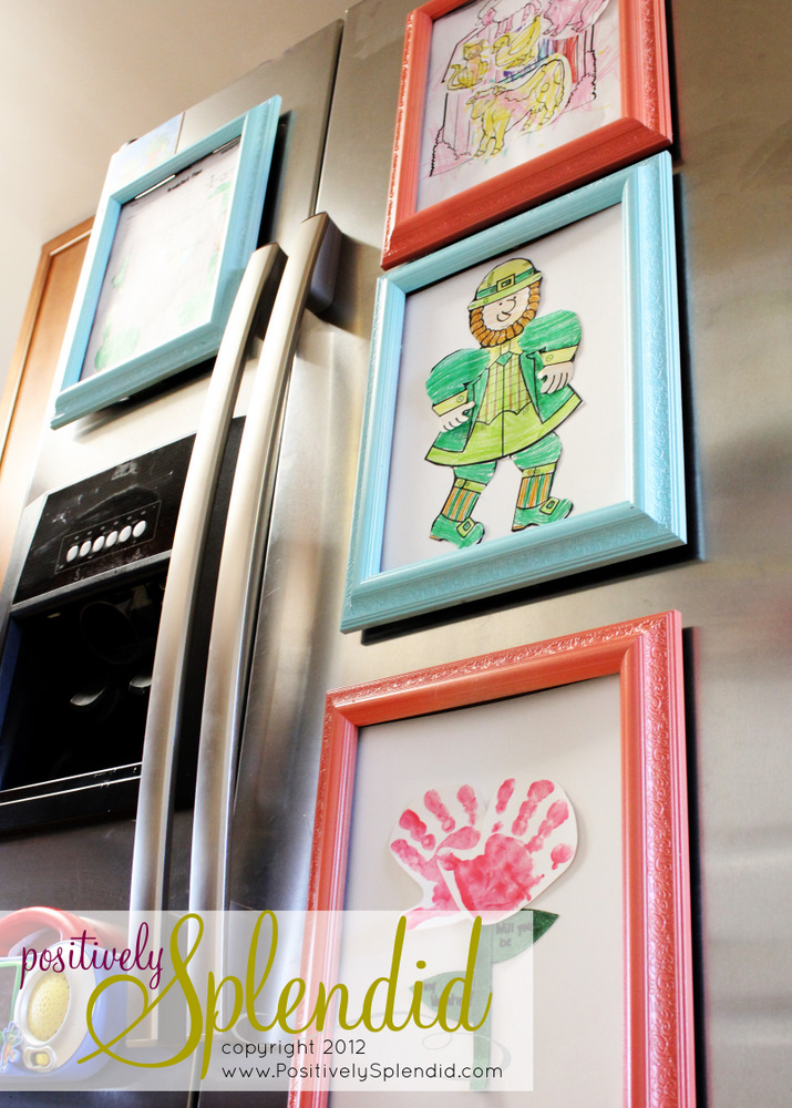 Magnetic Refrigerator Art Frames - Positively Splendid {Crafts, Sewing, Recipes and Home Decor}