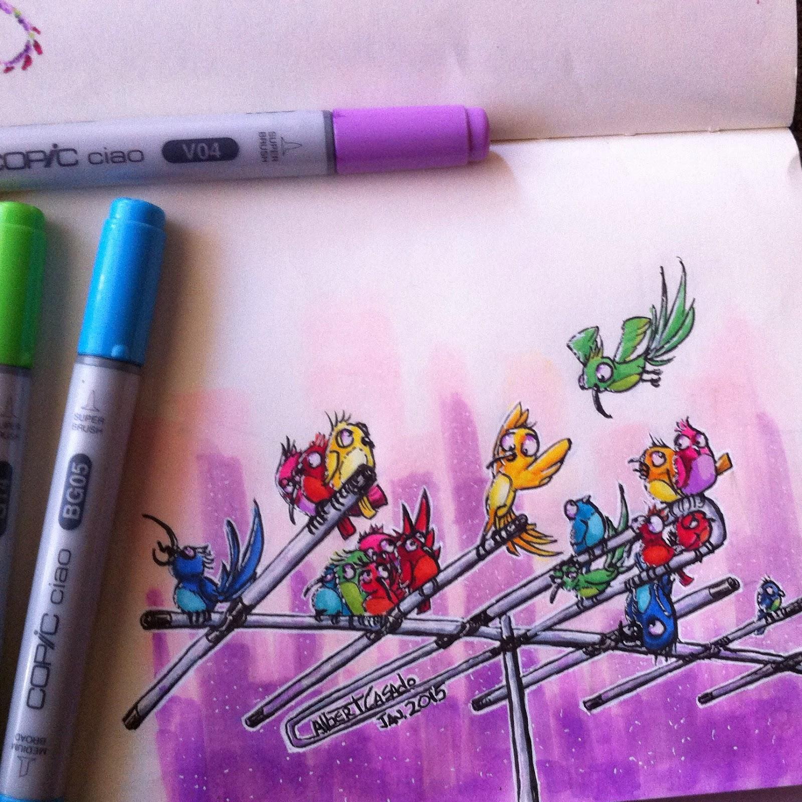 'Birdies' - Albert Casado (nfok-e)