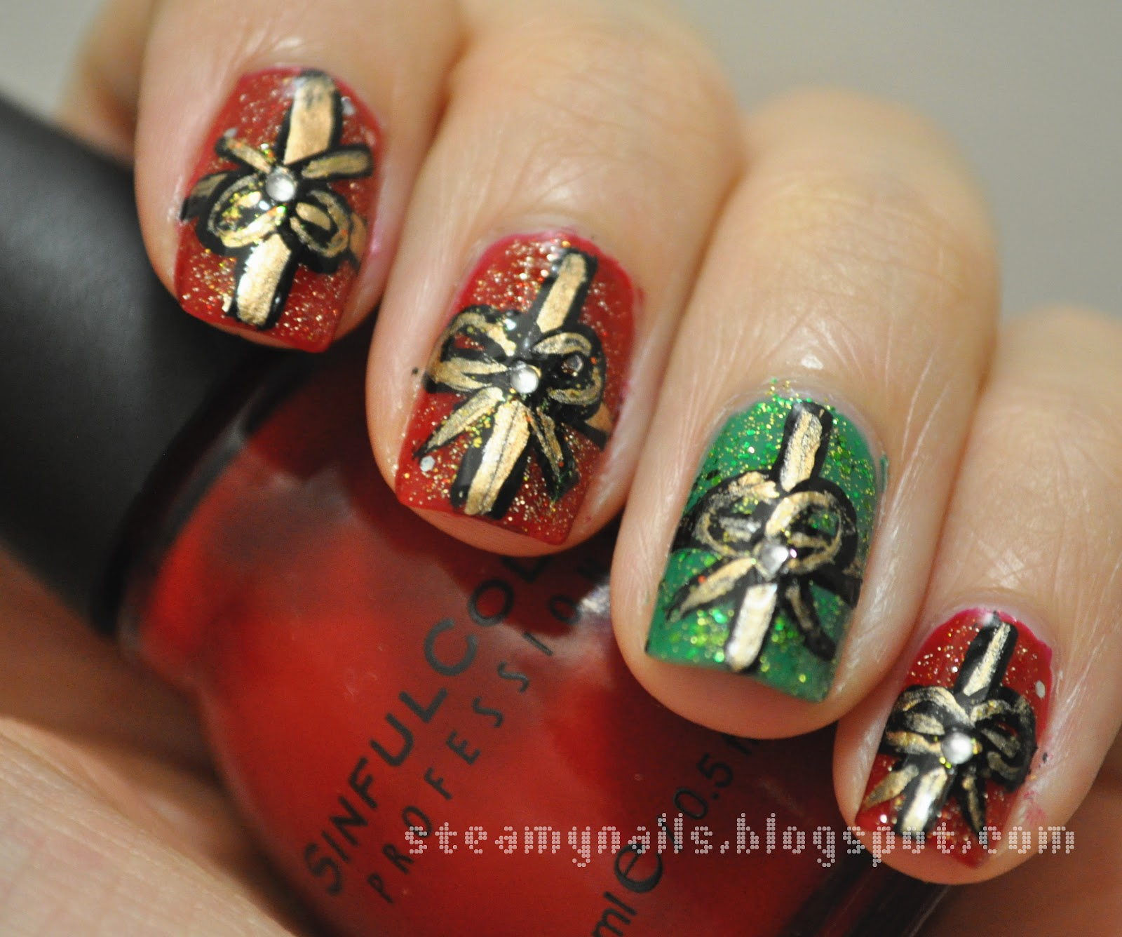 Steamy Nails Christmas Presents Nail Art Inspired By