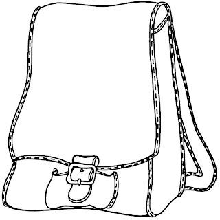 borda preto e branco mochila
