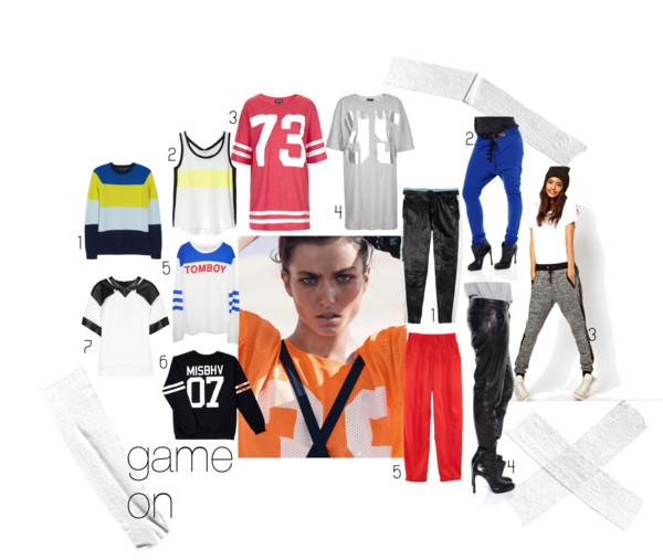 Sporty style, athletic style, style inspo, inspiration, tomboy, tomboy style, baggy pants, jersey t-shirts, t-shirts, number t-shirts
