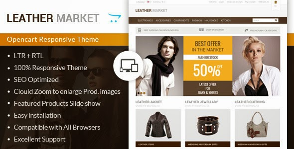 leather website template