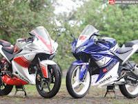 Modifikasi Duo Yamaha V-ixion Lightning 2013 Cilacap, Kompak Tampil Dengan Bodi Singset