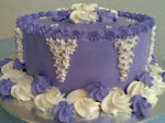 WHITE n PURPLE CAKE