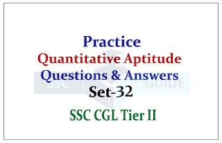 SSC CHSL/CGL Mains- Practice Aptitude Questions