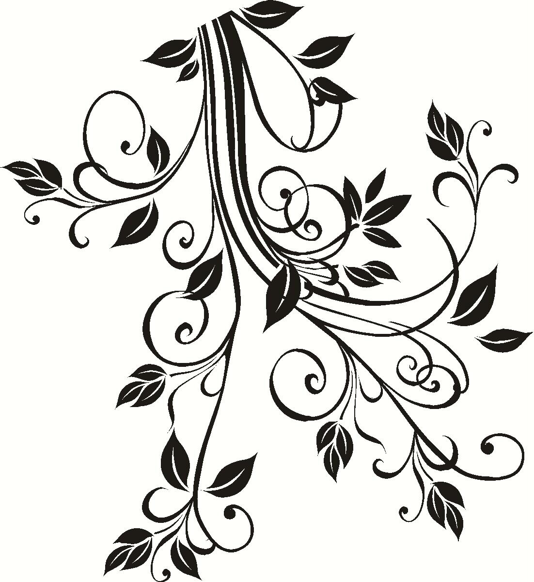 Трафареты для декора распечатать цветы
