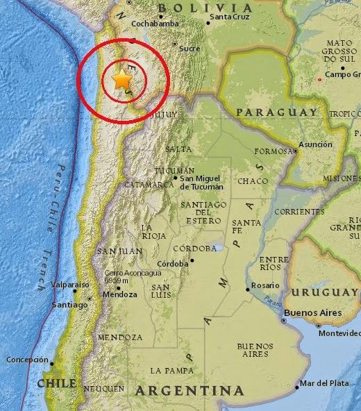 Magnitude 5.4 Earthquake of Calama, Chile 2015-04-13