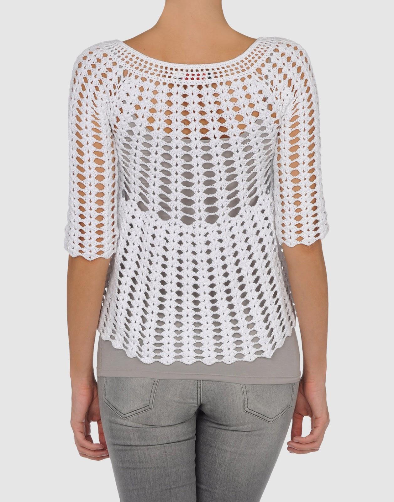 Mirad que blusa tan preciosa!!! Crochetemodax396