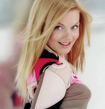 Geri Halliwell düz saç modeli