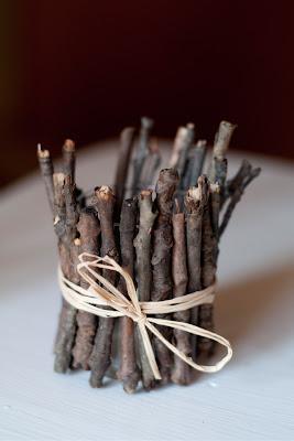 Twig votive fall centerpiece by baysidebride