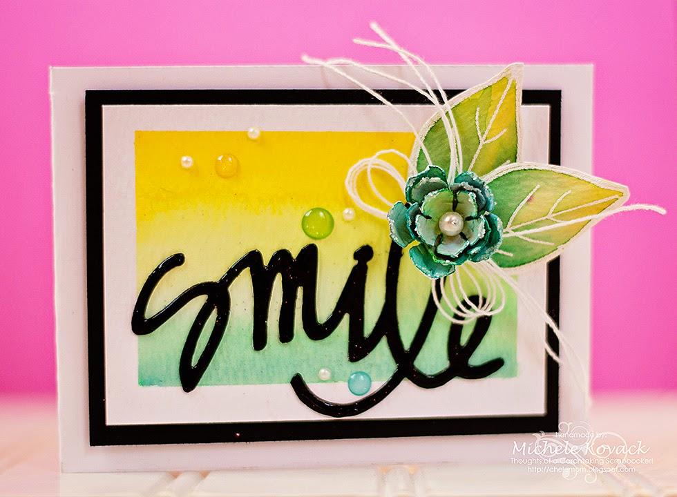 Smile with Lawn Fawn, Spellbinders, JustRite, and Peerless Watercolors