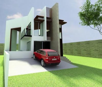 Fachadas de casas modernas fachada de casa moderna en for Fachada minimalista una planta