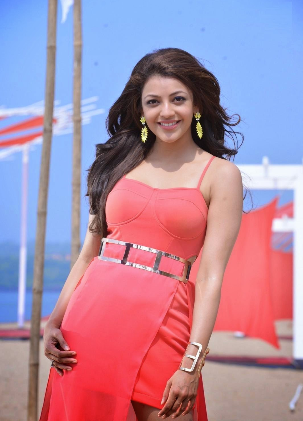 kajal aggarwal temper movie hot stills