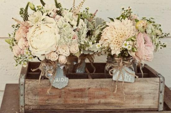 Oh mywedding cajas de madera para decorar la boda - Como decorar cajas de madera para centros de mesa ...