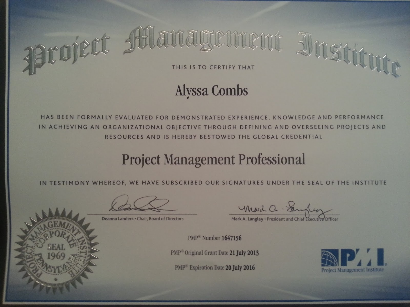 Alyssa combs youngest project manager professional journey blog thanks everyone 1betcityfo Choice Image