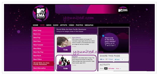 Big Bang Nominated at the MTV European Music Awards Unledkpu