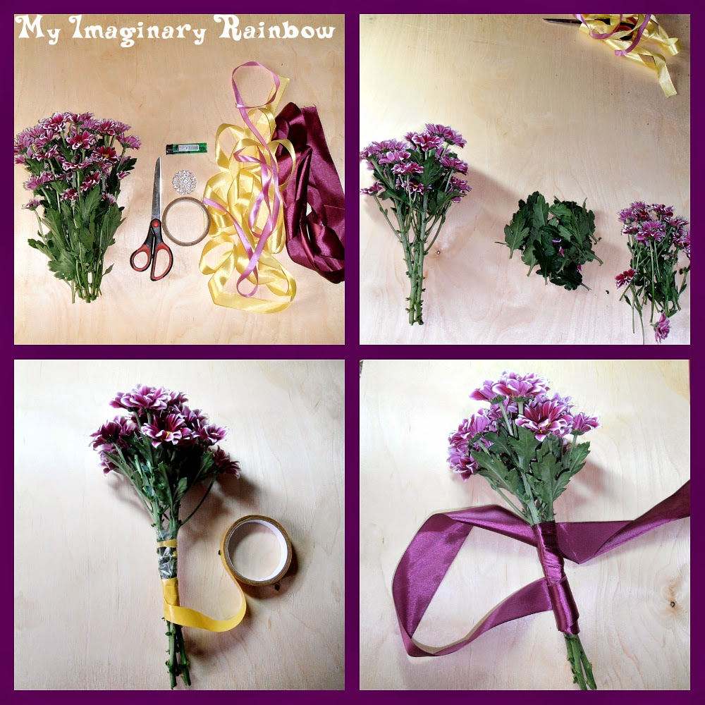 Как сделать букет из хризантем своими руками мастер класс