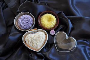 composizione di saponi intagliati