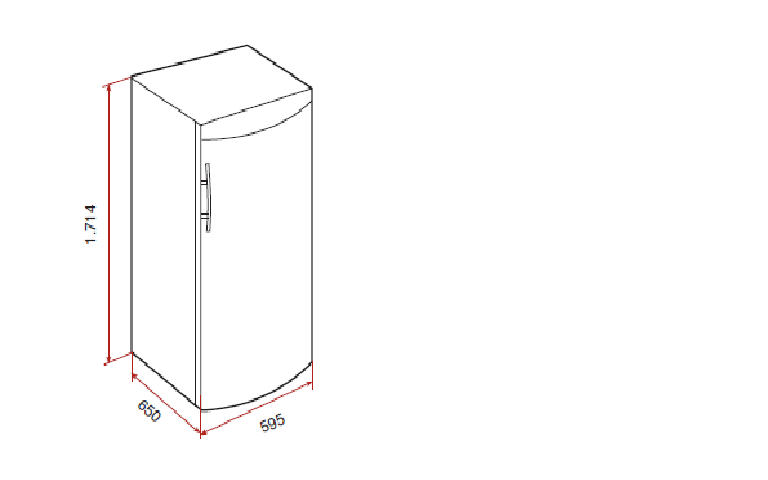 Desenho tecnico do Frigorífico Teka TS3 370 Branco ou Inox