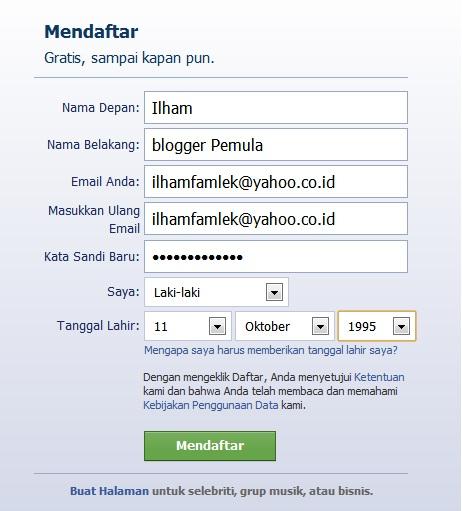 Cara Membuat Facebook - Cara Bikin Akun Facebook
