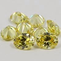 oval yellow cubic zirconia