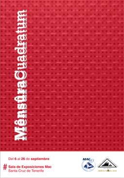 Cartel de la exposición Mensura Cuadratum