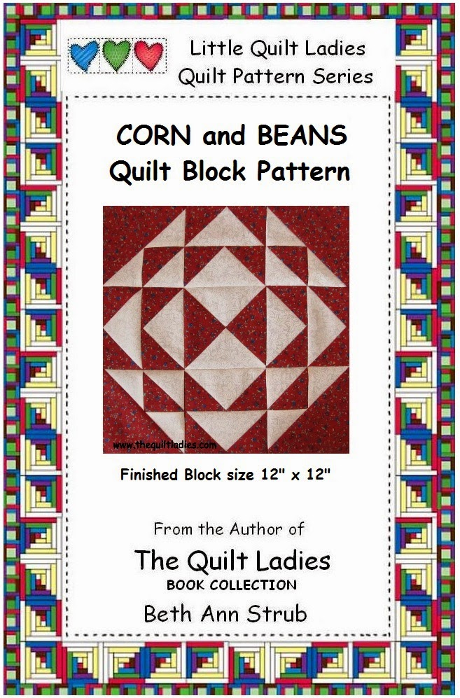 Quilt Pattern eBook, Corn and Beans by The Quilt Ladies