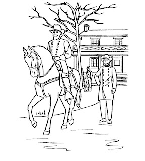 civil war solders coloring pages - photo#17