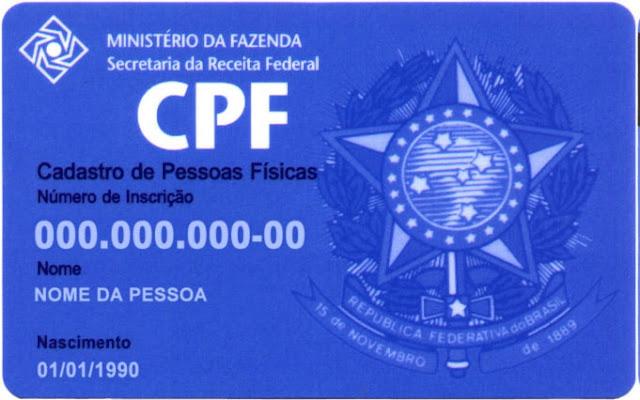 Elustração de um cartão de CPF