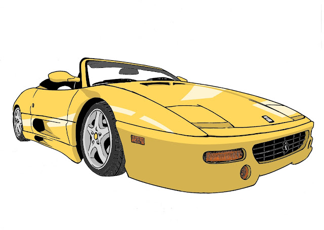ferrari 355 f1 digitally colored