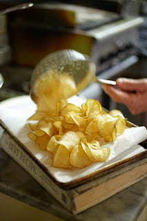 South Park Cafe San Francisco. Making Fresh Baked Chips