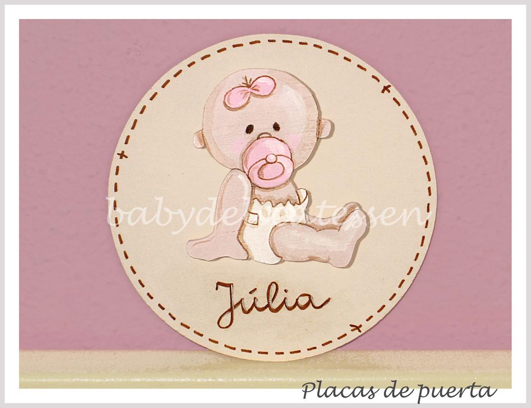 Baby delicatessen letras de madera placas de puerta para - Placa de madera ...