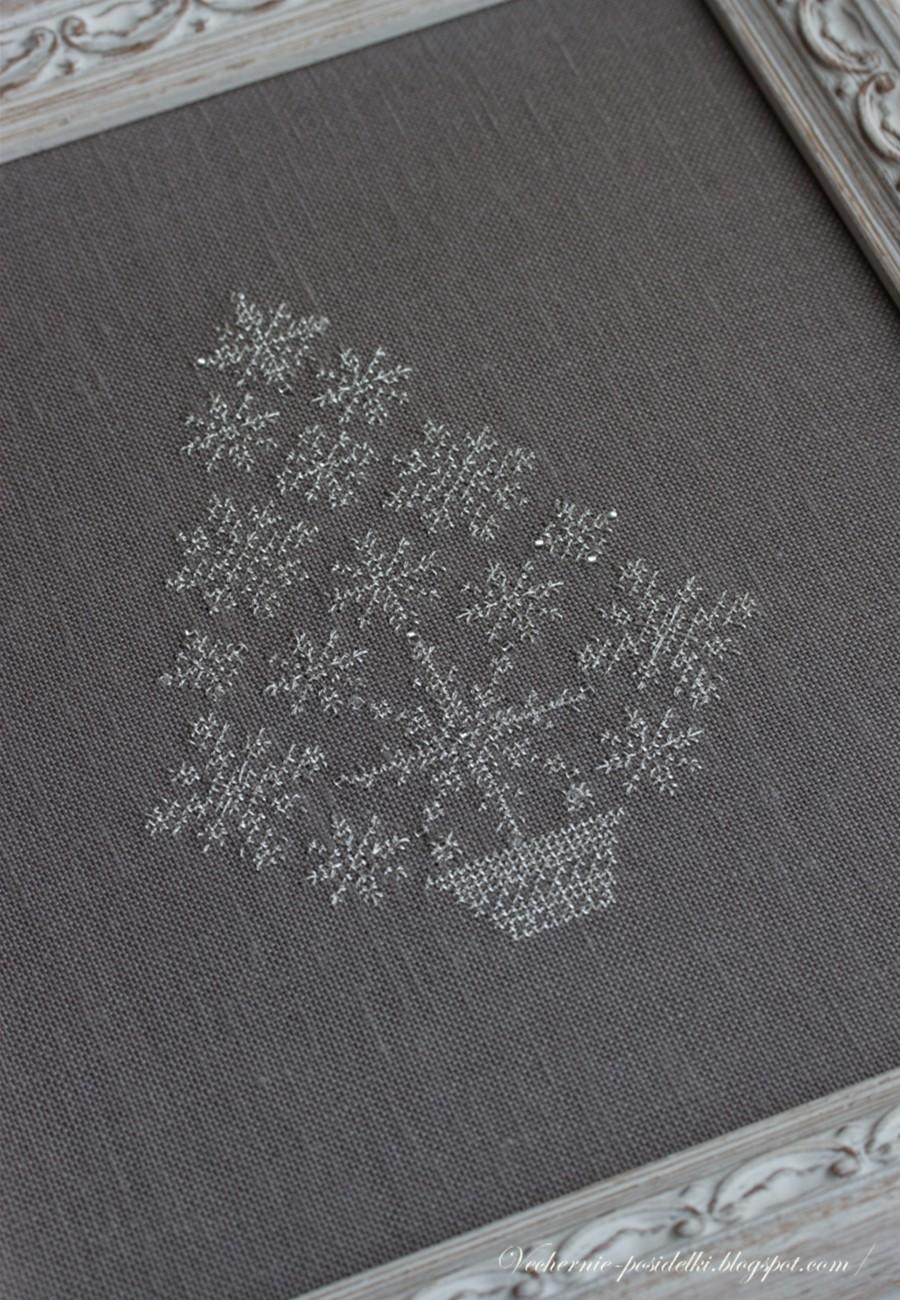 элегантная елка схема вышивки
