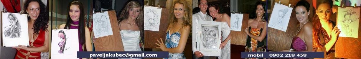 KARIKATURA podla fotky/PARTY-KARIKATURY-eventy,svadba,svadobný karikaturista,portrét,portréty,svatba