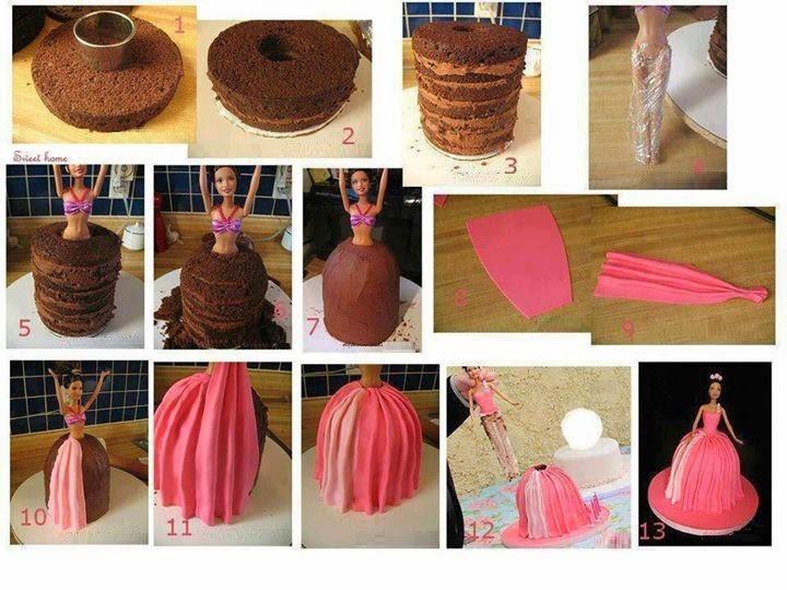 Torta Barbie, Paso a Paso