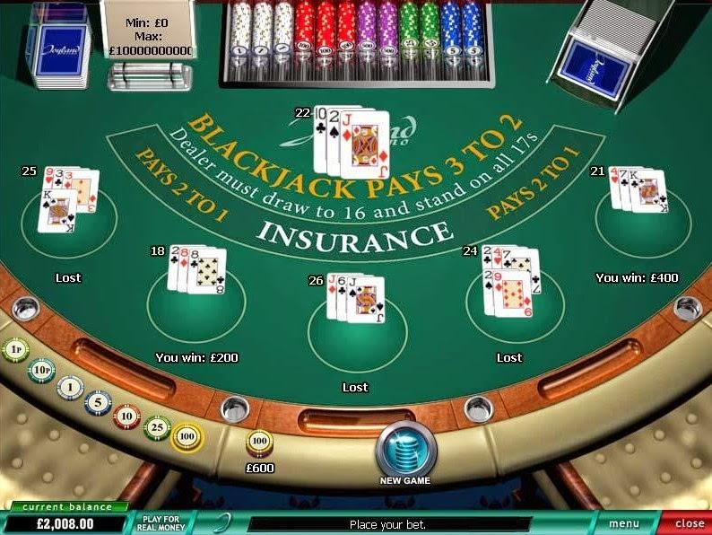 Joyland Casino Blackjack Screen