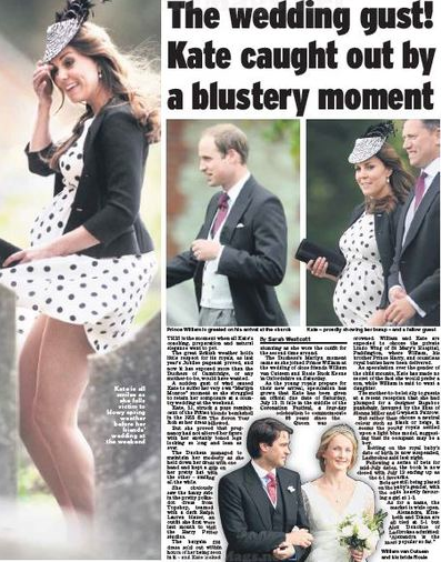 Kate attends wedding in polka dot dress