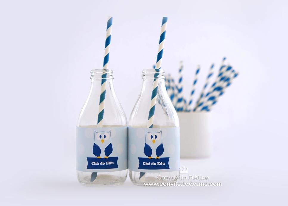 corujinha adesivo personalizado agua