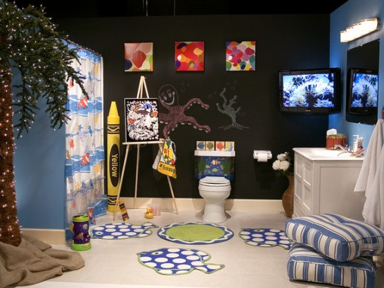 Ideas Para Decorar Baños De Ninos:Kids Bathroom Decorating Ideas