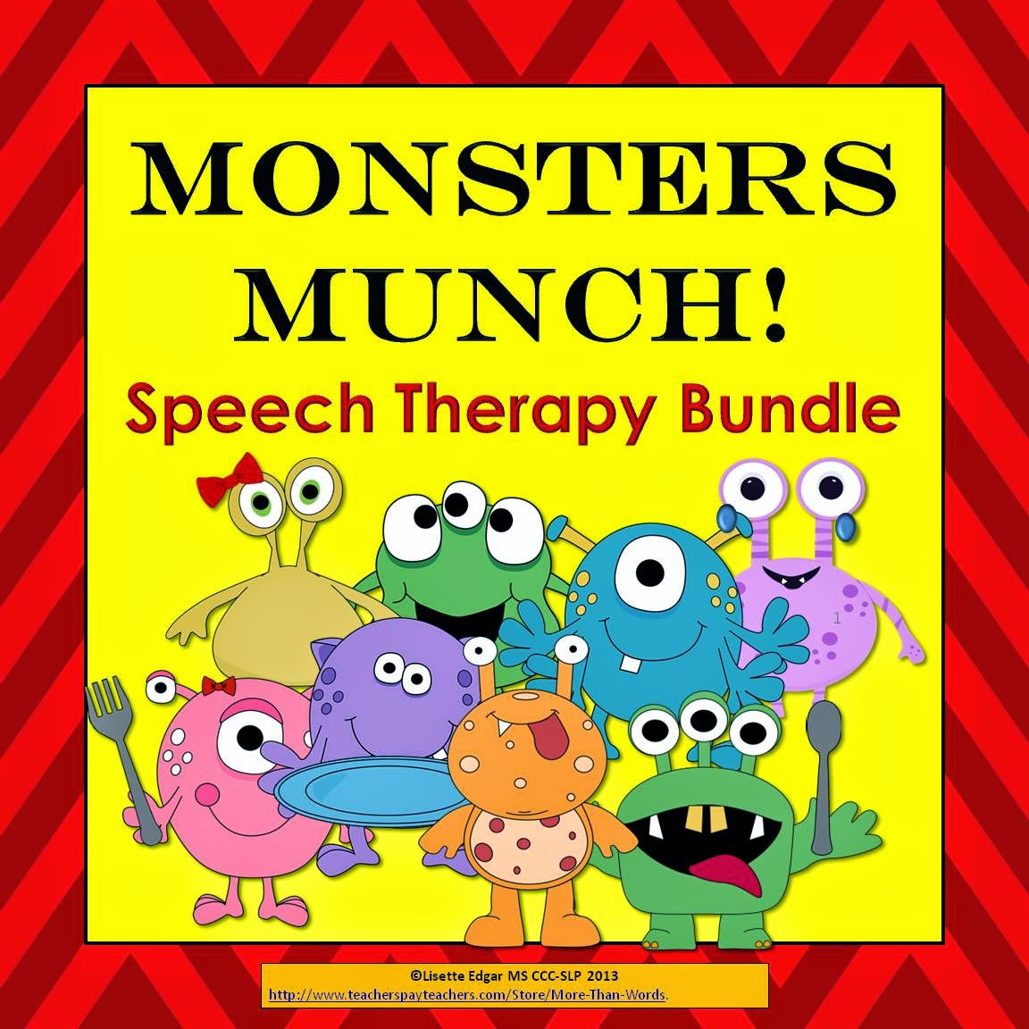 http://www.teacherspayteachers.com/Product/Monsters-Munch-Speech-Therapy-Bundle-905910