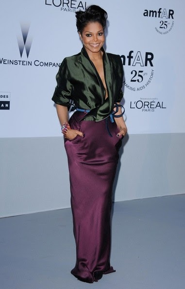 Aids Gala 2011 Red Carpet Fashion: Janet Jackson In Haider Ackerman