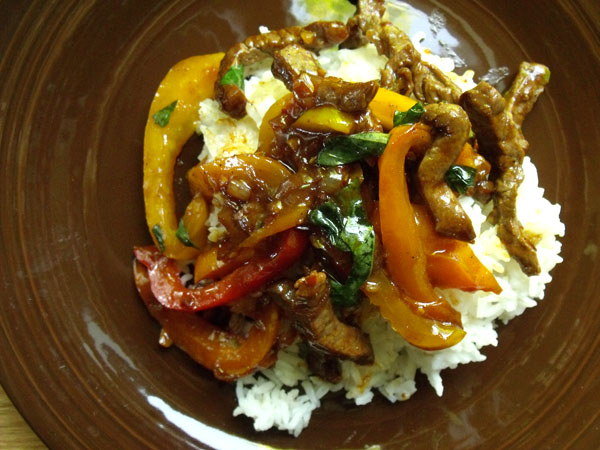 spicy beef with thai basil from the food addicts 1 lb stir fry beef ...