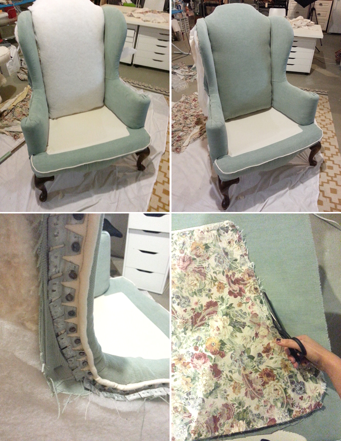 Jenny N Design Diy Reupholster A Wingback Chair