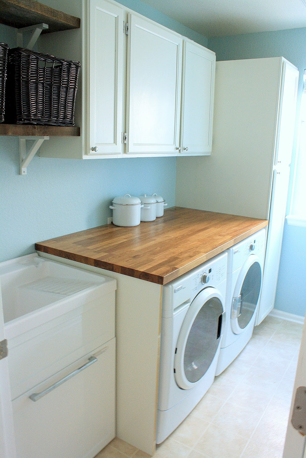 Countertop Options For Laundry Room : Laundry Room Reveal (finally!)