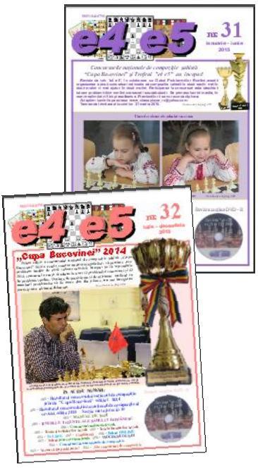 """Cumpăraţi revista română de şah """"e4 e5"""""""