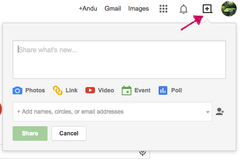 New Google+ Share Button