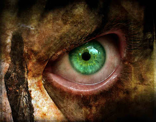 Green Eye Dark Gothic Wallpaper