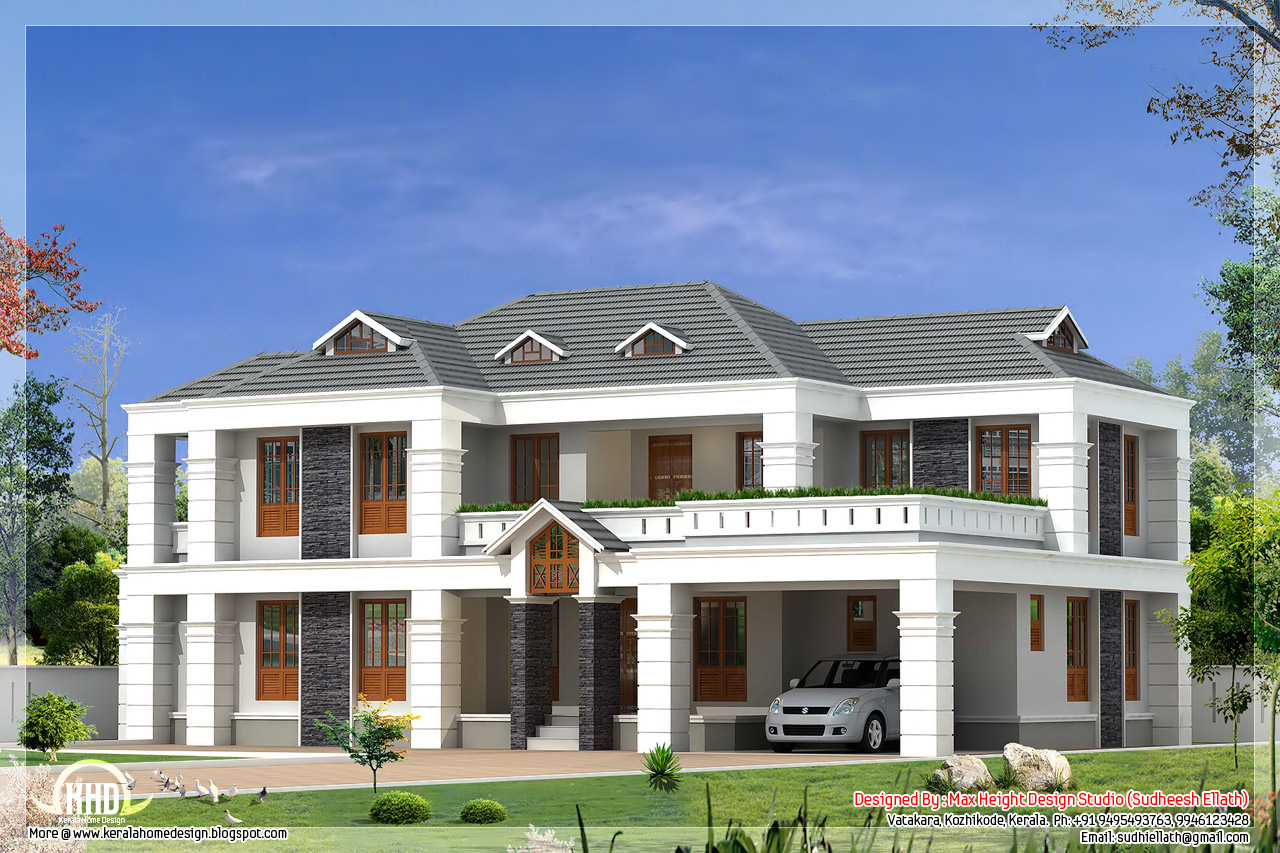 4 bedroom 2800 house design kerala home design for 4 bedroom luxury house plans