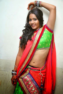 Actress Mithra half saree Pictures 003.jpg